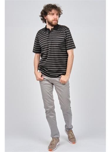 Arslanlı Arslanlı Erkek Cep Detaylı Çizgili Polo Yaka T-Shirt  Siyah